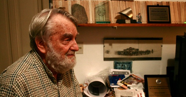 Osvaldo Bayer, historiador y anarquista argentino.